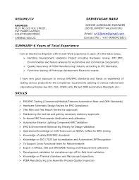 Emc Test Engineer Resume Sample