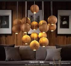 beautiful solid wood chandeliers led pendant lamp modern minimalist woods supending lighting living room dining wooden lamp 3 7 10 16 heads maskros pendant