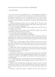 Sample Of Special Skills In Resume Best Ideas Of Sample Of Special Skills In Resume With Sheets 6