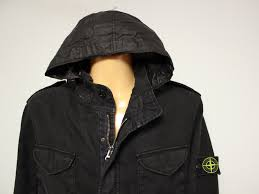 superdry er harrington stone island sz genuine hoo made in italy black jacket hood sz mens