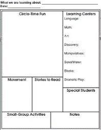 Free Printable Lesson Plan Template Printable Lesson Plan Template For Preschool Vastuuonminun
