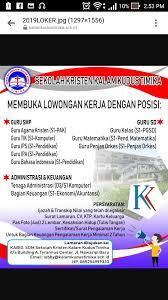 Check spelling or type a new query. Info Lowongan Kerja Guru Di Timika