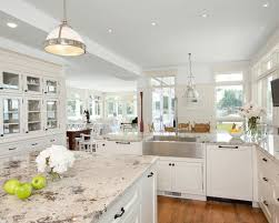 Elegant Amazing Of Countertops For White Kitchen Cabinets Whitecabinetskitchen  Macavoy Modern White Kitchen Kitchen With Photo