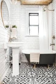black and white patterned bathroom floor tiles image 2018