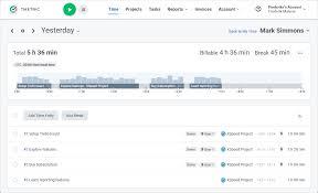 Free Time Tracking Software App Tmetric
