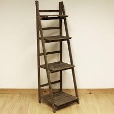Wooden Ladder Display Stand 100 tier brown ladder shelf display unit free standingfolding book 5