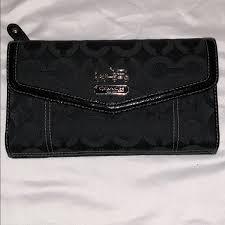 Coach signature large wallet