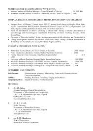 ... Clinical Laboratory Scientist Resume by Curriculum Vitae ...