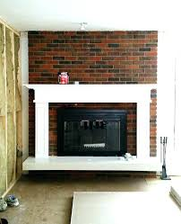 5 Corner Brick Fireplace Color Ideas Painting  Decor Painted Tips In