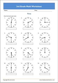 3rd grade math worksheets fall math worksheets for 1st 2nd 3rd ...