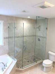 half shower door half glass