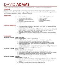 Sales Resume Example Of Retail Sales Resume Retail Assistant