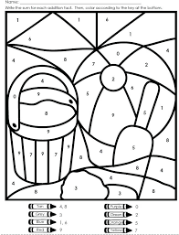 Coloring Pages Math Worksheets Math Addition Coloring Worksheet ...