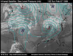 Satellite Weather Chart Pressure And Infrared Satellite