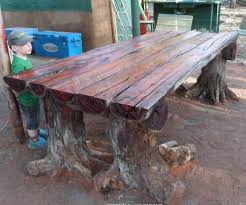 furniture made from tree stumps. with a chainsaw i make rustic log furniture table using tree stumps for the legs youtube made from