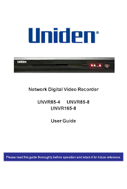 You may need to update the firmware on the devices connected to your iot hub. Uniden Unvr85 4 User Manual Pdf Download Manualslib