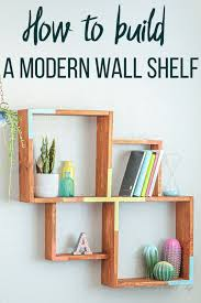 how to build a simple wall shelf using
