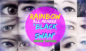 rainbow 레인보우 black swan 블랙스완 makeup tutorial all members you