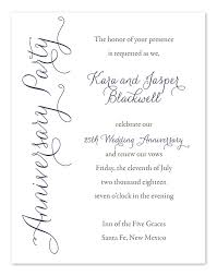 25th wedding anniversary party invitations 20 awesome 50th wedding anniversary invitation wording