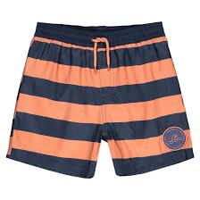 <b>Шорты пляжные в</b> полоску, 3-12 лет темно-синий/ оранжевый <b>La</b> ...
