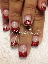 49er nails | Swanky Nails | Pinterest | Nails, Short nails and ...