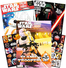 This incredibly rich universe created by george lucas takes place over several episodes, the first one out isn't however the first one in the history timeline, because the filmmaker feared that the reception of his other scenarios. Amazon Com Star Wars Coloring Book Super Set With Stickers And Posters 3 Jumbo Books Over 200 Pages Total 2 Posters Over 30 Stickers Toys Games