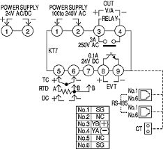kt7 temperature controllers wiring connection automation external connection diagram