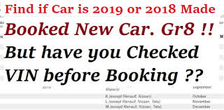 Year To Vin Chart Decode Manufacturing Date Of Car How To Find 2019 Vin Car