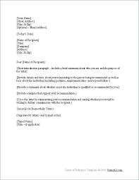 Personal Letter Of Recommendation For Employment Employers Reference Template Buddhawithin Me