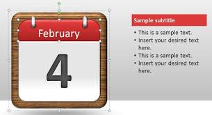 Microsoft Free Calendar Template Free Calendar Pages Powerpoint Template Free Powerpoint