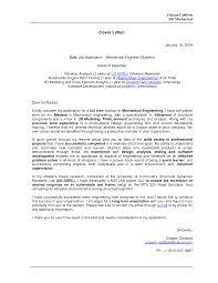 Cover Letter Mechanical Engineering Cover Letter Cover Letter For