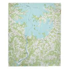 Nc Lake Norman South Nc 1970 Topo Map Blanket In 2019