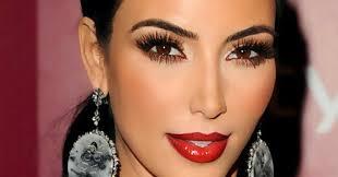 Resultado de imagem para kim kardashian maquiagem