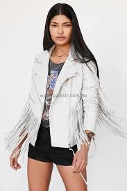 black blanknyc vegan leather fringe jacket for women pau 36687325