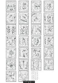 Illuminated Letters Coloring Pages Free