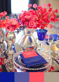 5 ways to blue tify your wedding josiah's catering, inc Wedding Colors Royal Blue And Pink sapphire blue, coral pink and silver royal blue and coral wedding royal blue and pink wedding colors