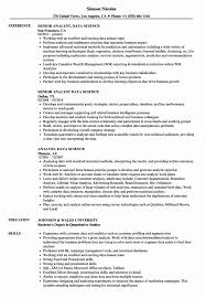 Bistrun Data Science Resume Template Collection Of Solutions Data