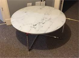 next novaro coffee table glass marble effect round circular chrome