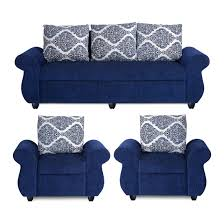 fabric sofa set 3 2 1.  Sofa Fabric Sofa Set Bharat Lifestyle New Alisa 3  2 1 Blue Sofa Set Inside