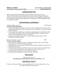 Objective Accounting Resume Objective