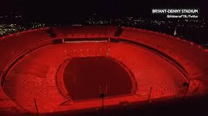Football Stadium Lights Png Alabama Football Bryant Denny Stadiums New Led Lights