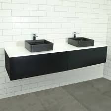 eden matte black wall mount vanity cabinet without top mm