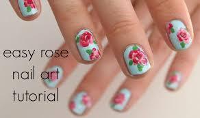 Easy Floral Nail Designs Easy Rose Nail Art Tutorial Islaayx Rose Nail Art Nail