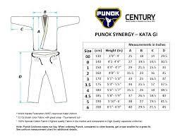 Karate Belt Size Chart Punok Kata Uniform Century Martial Arts