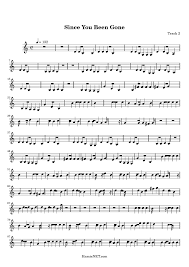 since you been gone sheet music since you been gone sheet music since you been gone score