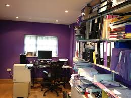 home office in basement. basement conversion york flooded to home office in