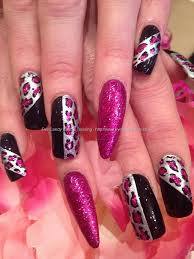 Eye Candy Nails & Training - Black, silver and pink glitter ...