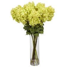 Silk Arrangements For Home Decor Home Decoration Calming Green Fake Floral Arrangements