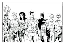 Small Picture Justice league coloring pages all heroes ColoringStar