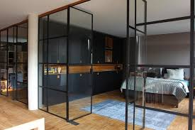 picture of steel and glass partition wall